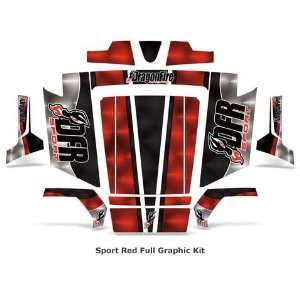 Racing Polaris RZR and RZR S. Full Graphics Kit. Sport Red. DFR 2AGRR