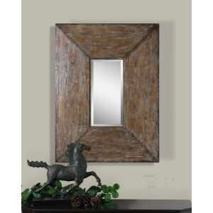Extra Large Wall Mirror Distressed Rustic Wood Luxe