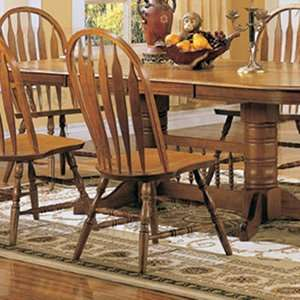 Solid Oak Dining Room Side Chairs (Set of 2)   Coaster