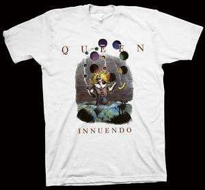 QUEEN Innuedo T Shirt Muse Radiohead Freddie Mercury lp