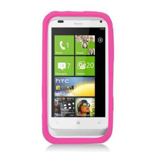 For HTC Radar 4G/Omega Soft Silicone SKIN Protector Cover Case Pink