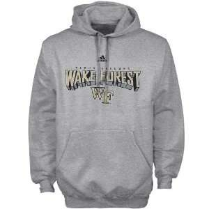 adidas Wake Forest Demon Deacons Ash Book Smart Hoody