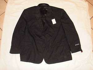 NWT $260 Retail Mens 56 R Stafford Navy Blue Suit Jacket 100% Wool