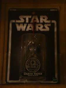 2002 STAR WARS SAGA EXCLUSIVES SILVER TOY FAIR DARTH VADER MOC AFA 90