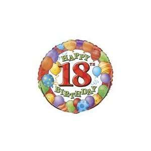 18 Happy 18th Birthday Balloons   Mylar Balloon Foil