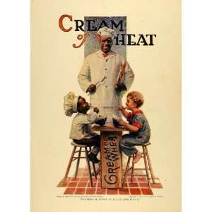1919 Ad Cream Wheat Chef Rastus Black Americana Children