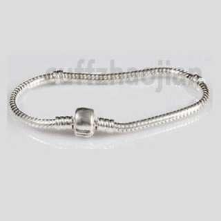 1PC Plain Authentic Bracelet European Silver Charms #NG