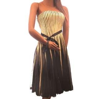 New Sexy Stretch Cocktail Evening Stripe Dress Sz S M L