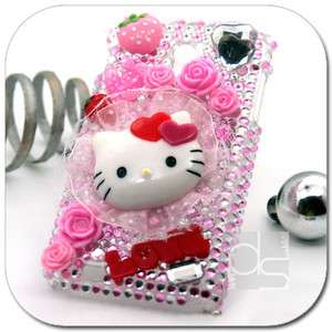 Bling Hello Kitty Hard Skin Case Sprint Samsung Epic Touch 4G D710