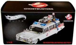 Ghostbusters Ecto 1 Die Cast Hot Wheels Elite 143 *New*