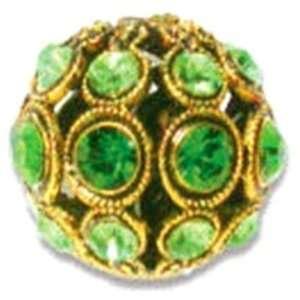 Swarovski® 13mm Filigree Bead Fern Green/Peridot in