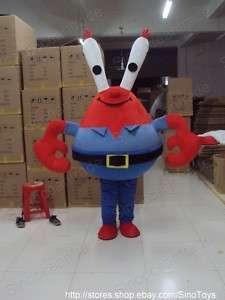 Eugene H. Krabs Crab Mascot Costume Fancy Dress EPE