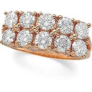 14K Rose Gold Diamond Anniversary Band   2.00 Ct. Jewelry