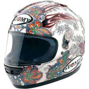 Suomy Vandal Flower Helmet   Medium/White Automotive