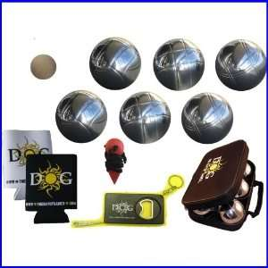 Petanque Set   73mm Chromed Steel Set by The Day of Games