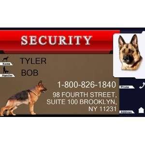 SECURITY Badge   1 Dogs Custom ID Badge   Design#2