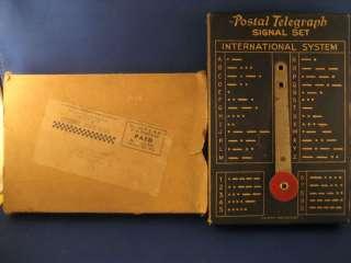 Tom Mix Blue Postal Telegraph Signal Set