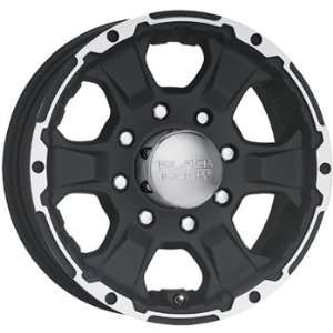 Black Rock Intruder Trailer 16x6 Black Wheel / Rim 8x6.5