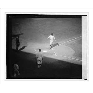 Historic Print (L): Goslins home run in 2nd inning of 2nd
