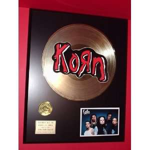 Korn 24kt LP Gold Record LTD Edition Display ***FREE PRIORITY SHIPPING