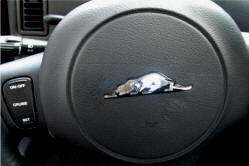 Plymouth Prowler Chrome Shimmer steering wheel emblem