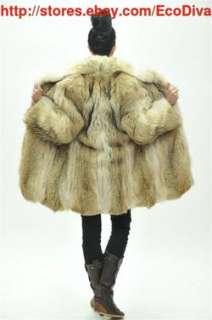 MASTER FURRIER MICHEL CANADIAN ARCTIC WOLF COYOTE FUR COAT * JACKET
