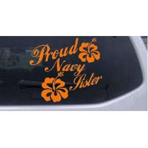 Proud Navy Sister Hibiscus Flowers Military Car Window Wall Laptop