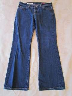 Express Curvy Dark Wash Bootcut Stretch Jeans 6 Short