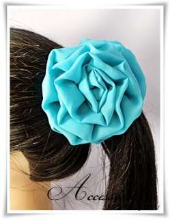 Chiffon & Flower Mesh Fabric Hair Claw Clip Clamp Pick 4 Type