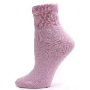 Sole Pleasers Womens Pink Diabetic Quarter Socks   3 pairs [Health
