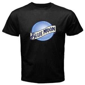 Blue Moon Beer Logo New Black T shirt Size 2XL Free