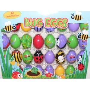 Bug Eggs 32 Plastic Easter Eggs Filled with Candy Toys