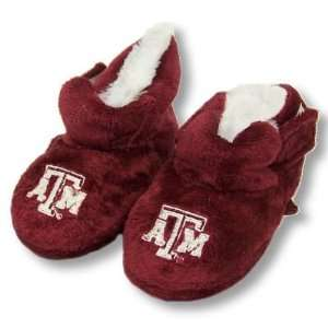 AGGIES OFFICIAL LOGO BABY BOOTIE SLIPPERS 3 6 MOS
