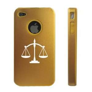 Apple iPhone 4 4S 4G Gold D1284 Aluminum & Silicone Case