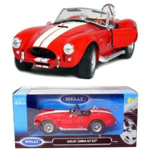 Shelby Cobra 427 S/C Convertitble 1:24 Scale (Red): Toys