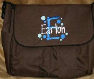 Personalized Baby Diaper bag & Burp Cloth Polka Dots Circles