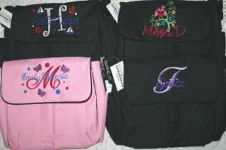Personalized Baby Diaper bag 4 bag colors + Burp Cloth Boy or Girl