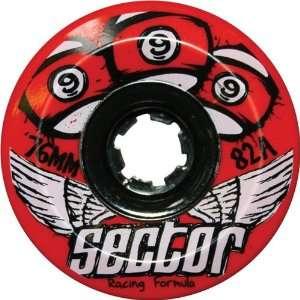 Sector 9 Race 82a 76mm Red longboard Wheels (Set of 4)