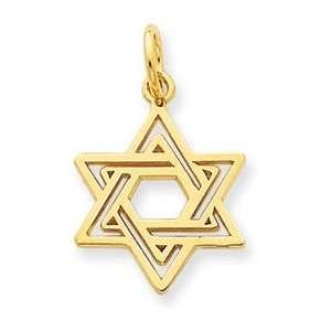 Genuine IceCarats Designer Jewelry Gift 14K Jewish Star Charm Jewelry
