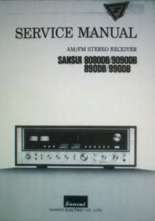 SANSUI 8080DB 9090DB 890DB 990DB SERVICE MANUAL BOUND |
