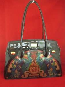 TALJA ITALY Black Patent Leather NEW Large Satchel