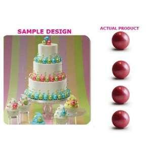 Shimmer Pink Cake & Cupcake Decoration Gum Balls