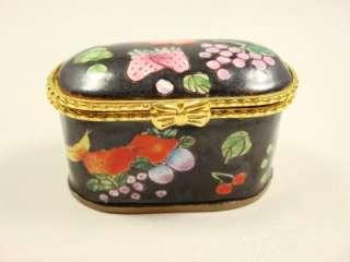 Kelvin Chen daughter Sharon enameled stamp holder black box strawberry