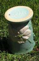 Weller Pottery 6.5 Pale Green Wild Rose Vase w Handles