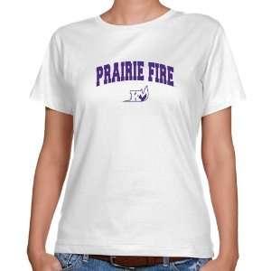 Knox College Prairie Fire Ladies White Logo Arch Classic