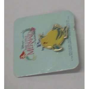 Vintage Enamel Pin Disney Little Mermaid Flounder