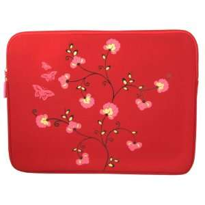 Elite 17 Laptop/Notebook Sleeve Case Bag   Red Flower Electronics
