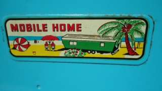 60s Nylint Steel Mobile Home Trailer & Ford Truck #6600 nice & clean