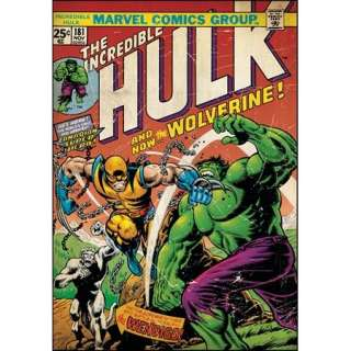 The Incredible Hulk #181 Wolverine Comic Cover Giant Peel and Stick