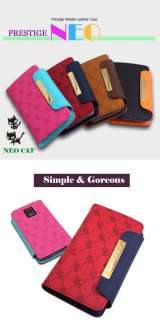 Diary Leather Wallet Case for Samsung GalaxyS i9000(br)